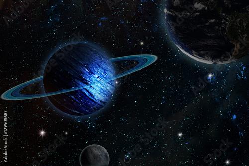 Zdjęcie XXL planeta uranu. w tym elementy dostarczone przez NASA.