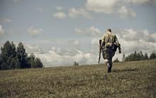 PERM, RUSSIA - JULY 30, 2016: Historical Reenactment Of World War II, Summer, 1942. Soviet Soldier