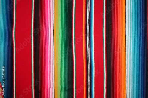 Staande foto Mexico mexican poncho background serape Mexican cinco de mayo Mexico rug poncho fiesta with stripes stock photo, stock photograph, image, picture