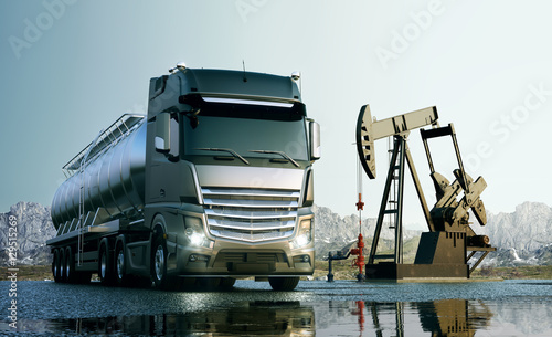 Fototapeta Transport oleju na całym świecie