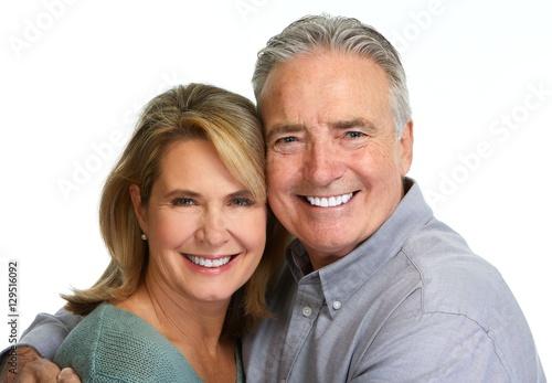 Senior couple smiling. #129516092