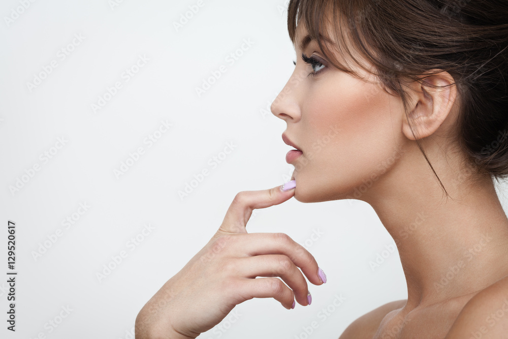 Fototapeta beautiful makeup on grey