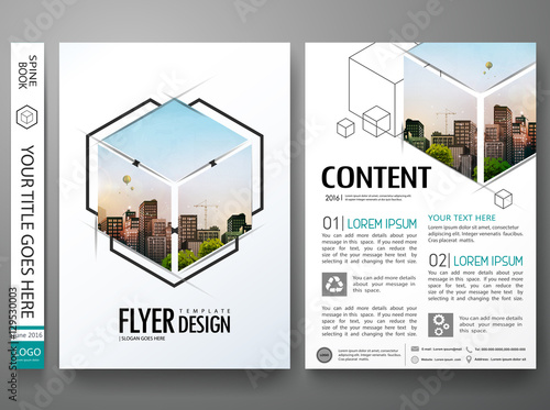 Portfolio Design Template Vector Minimal Brochure Report Business Flyers Magazine Poster Abstract Box Square On Cover Book Presentation
