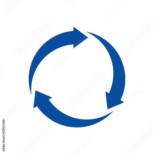 Fotomural recycle circle logo