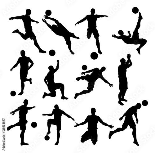Photo  Soccer Footballer Silhouettes