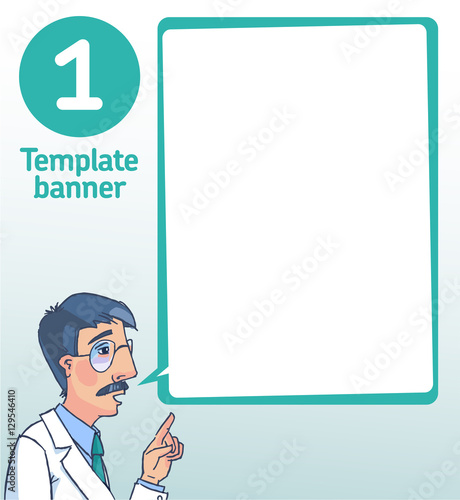 Vector template blank banner Doctor - Buy this stock vector