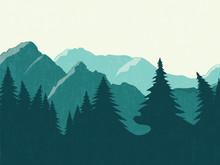 Mountains Vector Landscape