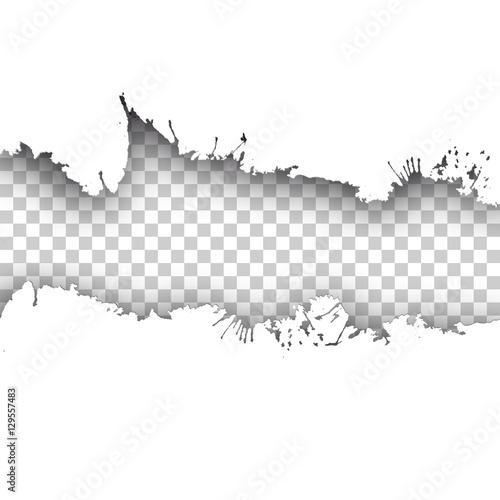 Fotomural  Vector ink transparent background