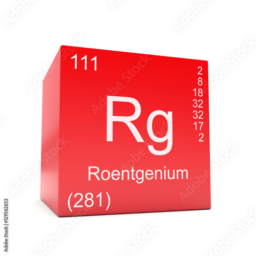 Roentgenium Chemical Element Symbol From The Periodic Table