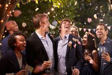 Smiling People Celebrating Wed...