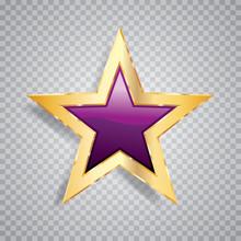 One Purple Gold Star