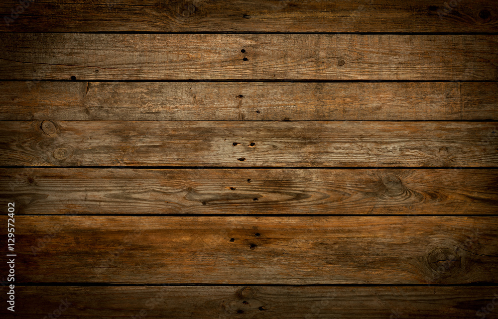 Fototapety, obrazy: Rustic wooden background. Old natural planked wood.