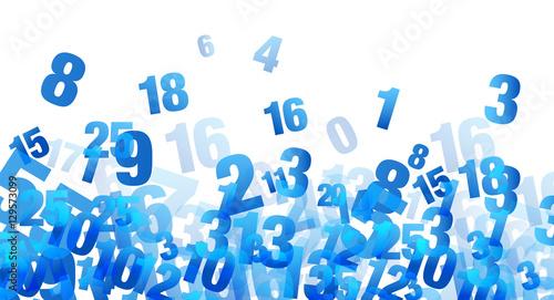 Canvas Print numeri, calcoli, statistiche, burocrazia
