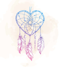 Dreamcatcher Heart Illustration
