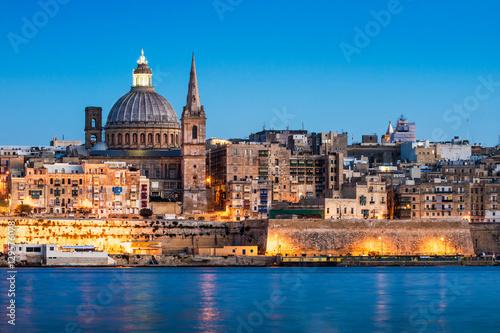 Foto op Aluminium Oude gebouw La Valetta - Malta