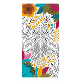Animal print with tropical flowers icon. Pattern wallpaper texture skin  theme. Vector illustration