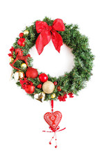 Classical Christmas Wreath Wit...