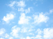 beautiful white clouds on a background of blue sky