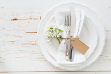 Spring Table Setting With Whit...