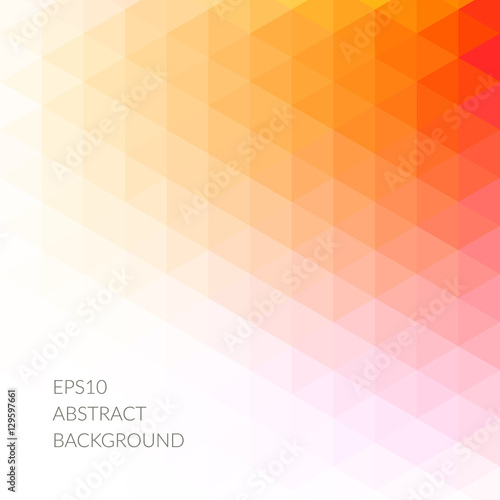 Abstract pattern of red and orange triangles.