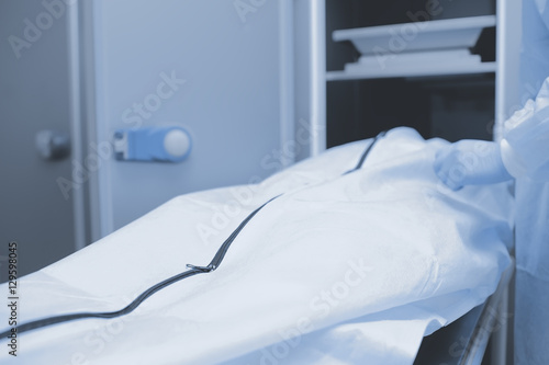 Photo  Preparations for autopsy, medical background