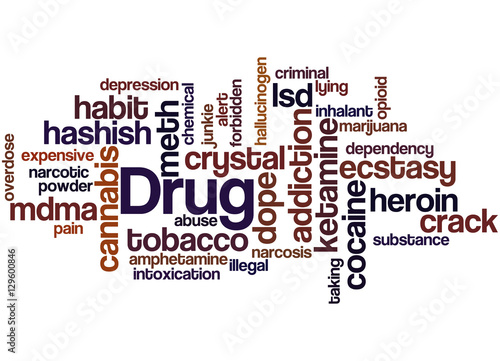 Drug names, word cloud concept - Buy this stock illustration