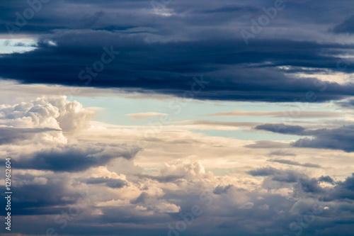Fototapeta colorful dramatic sky with cloud at sunset obraz na płótnie