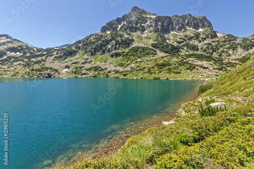 Aluminium Prints Amazing landscape of Dzhangal peak and Popovo lake, Pirin Mountain, Bulgaria
