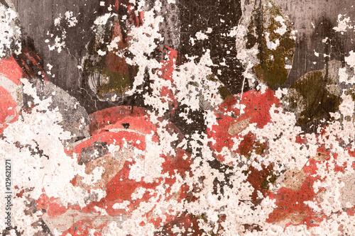 Poster Kyoto white concrete wall texture