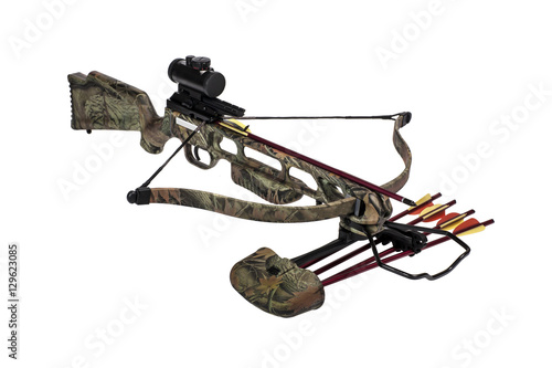 Crossbow iisolated on a white background Poster Mural XXL