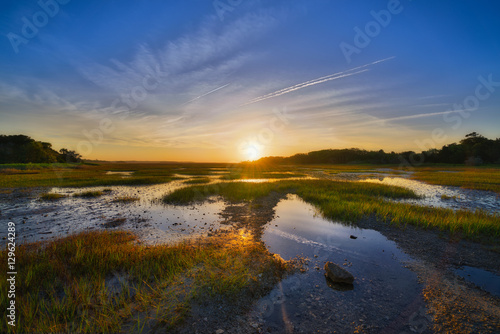 Fotografie, Obraz  Wetlands Sunrise at Botany Bay Plantation