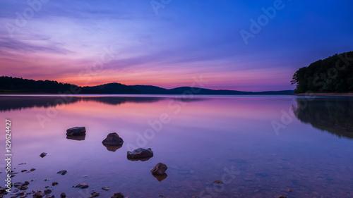 Serene sunrise at Round Valley New Jersey