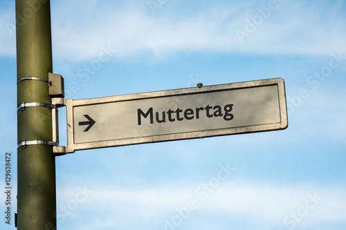 Fotografie, Obraz  Schild 67 - Muttertag