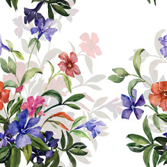 Fototapeta Do sypialni Watercolor illustration of a bouquet of colorful flowers,image seamless pattern