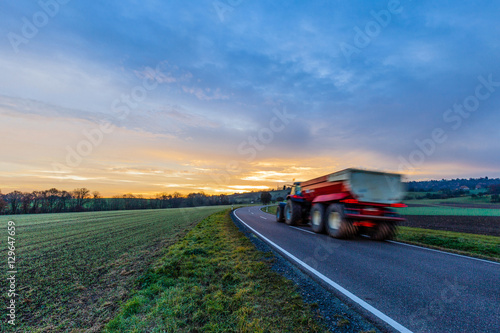Tractor On The Road