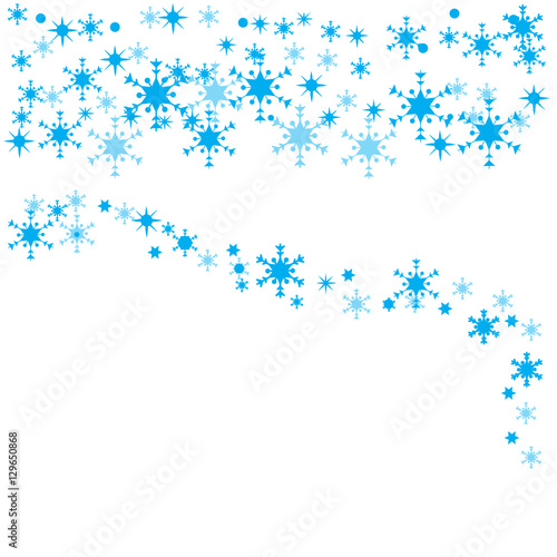 Blue Christmas Snowflake Banner Kaufen Sie Diese Vektorgrafik Und