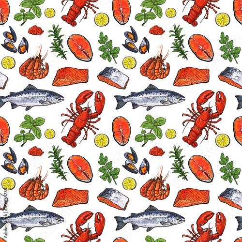 seafood-seamless-pattern-sketch-style-vector