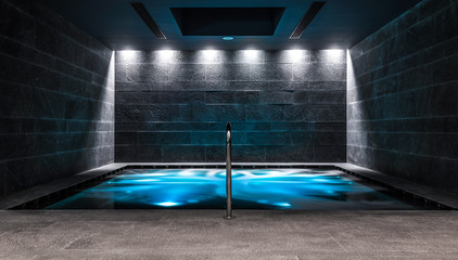 SPA hydrotherapy massage waterfall with mineral water