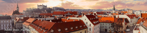 Photo  Panorama of old city in Bratislava, Slovakia