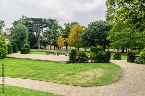 Obraz na plátně  Park in Burlington Lane, Chiswick, London, England