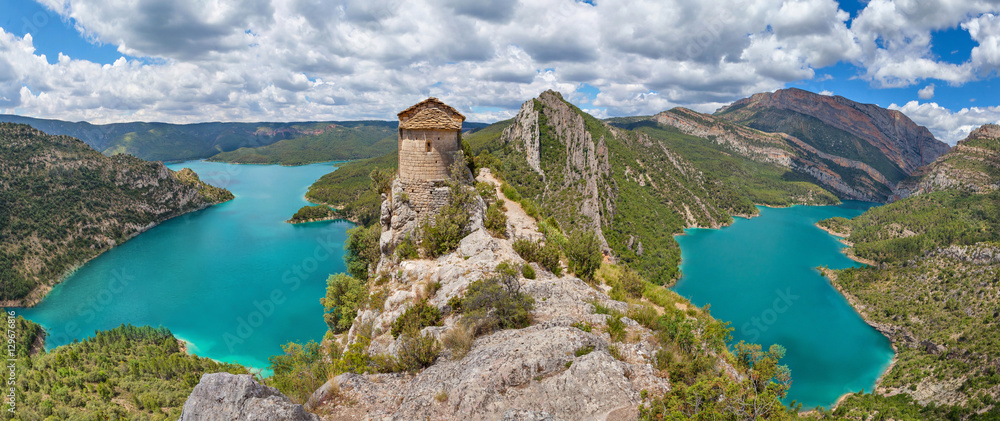 Fototapety, obrazy: Hermitage of La Pertusa, Lleida province, Spain
