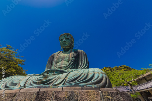 Fotobehang Japan The Great Buddha in Kamakura Japan. Located in Kamakura, Kanagawa Prefecture Japan.