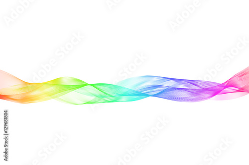 Poster Abstract wave Vector illustration abstract background. Transparent tape with a horizontal gradient fill. On a white background.