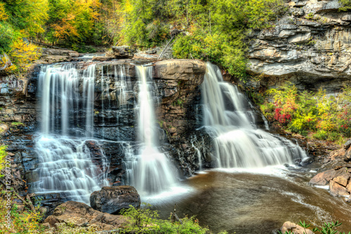 Blackwater Falls in State Park in West Virginia Wallpaper Mural