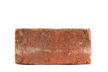 Old Red Brick Isolated On White