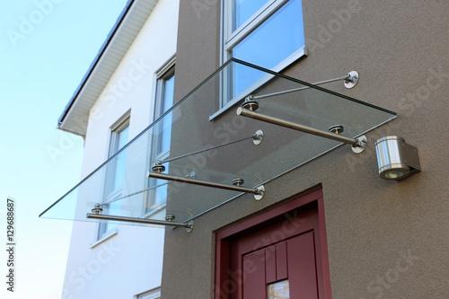 Haustür-Vordach aus Glas (Glass canopy front door) - Buy this stock ...