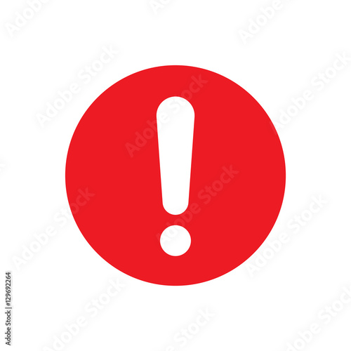 Fotografie, Obraz  Exclamation mark vector icon