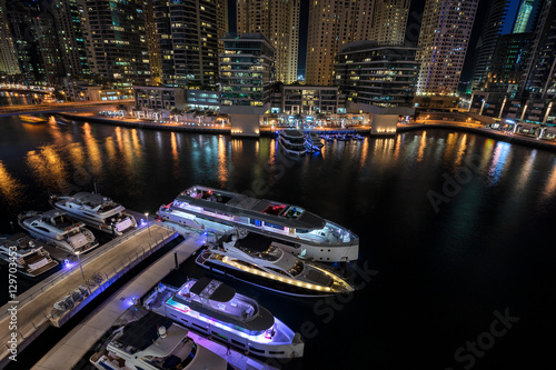 Photo  The Dubai Marina in the UAE