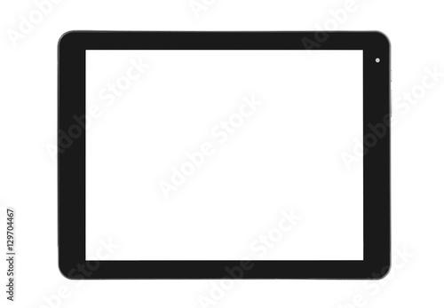 Fototapeta Tablet metal silver front straight obraz na płótnie