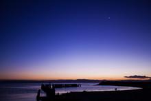 Salton Sea At Sunset
